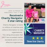 UBCF has a 3 star Charity Navigator Rating