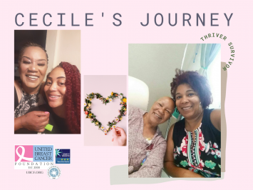 Cecile, a woman with triple negative breast cancer, with her loving family