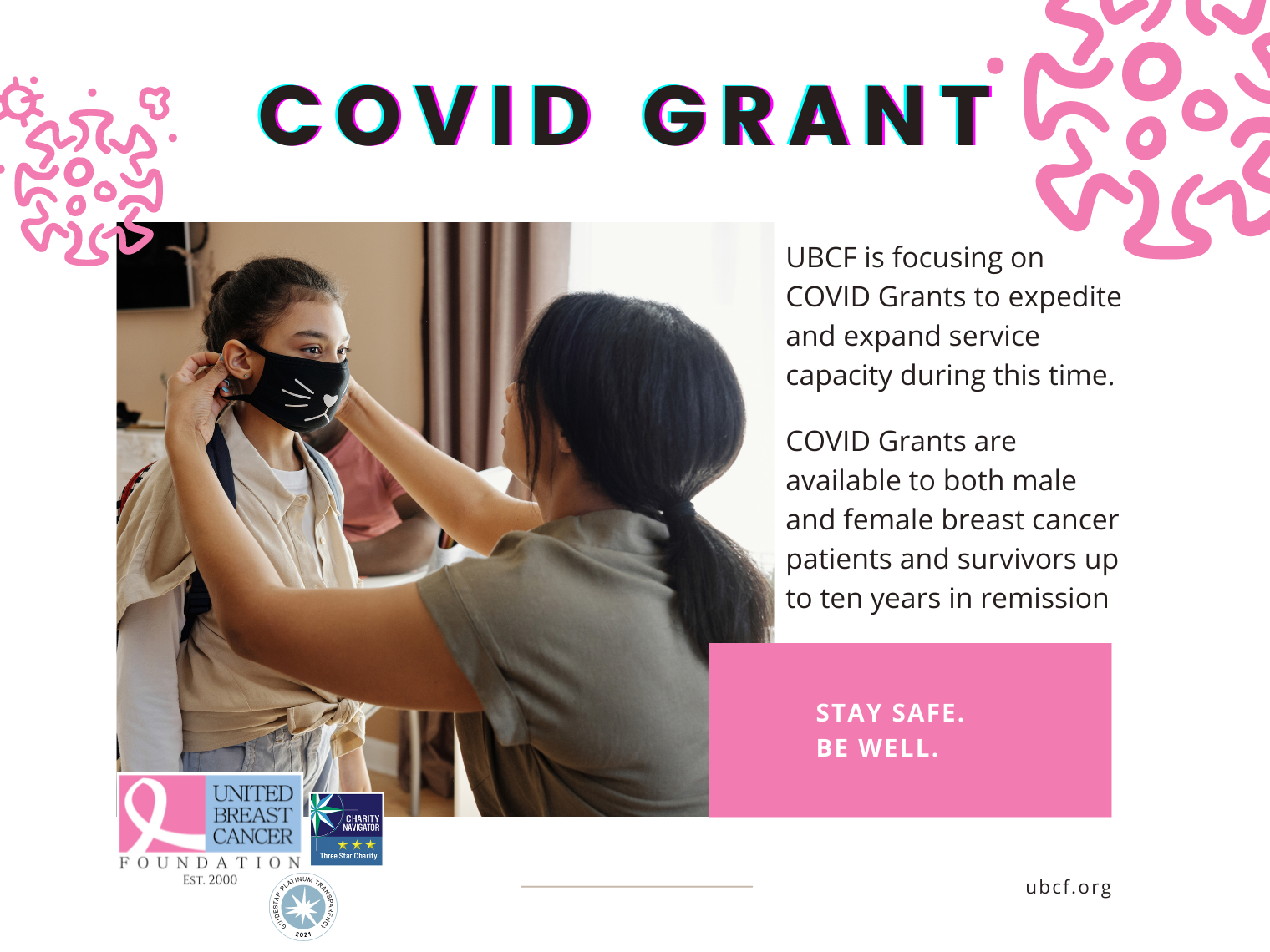 UBCF is expanding and expediting service by focusing on covid grants
